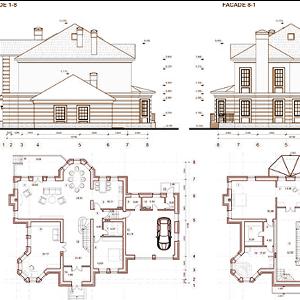 Exemples et Plans de Villas, Maisons en dwg Cad